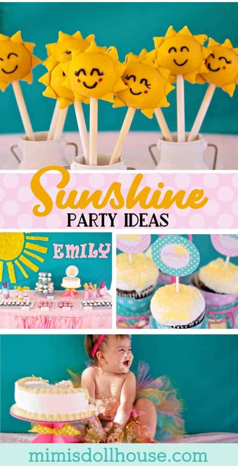 Sunshine Party: Emily's You are my Sunshine First Birthday.  Check out this very sweet Sunshine Party for Miss Emily's first birthday. Be sure to check out all of our Sunshine Party Ideas and Inspiration.