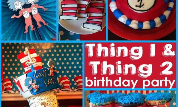 Thing 1 and Thing 2 Party: Twin's first birthday party, oh what fun!!
