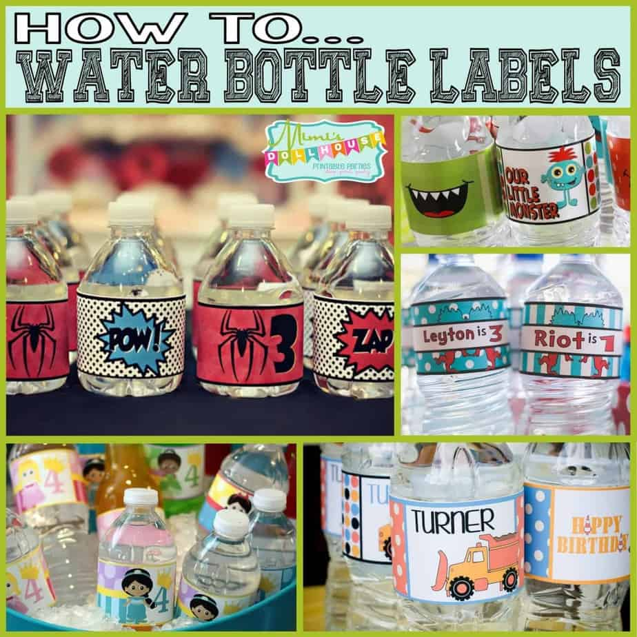How To: Water Bottle Labels