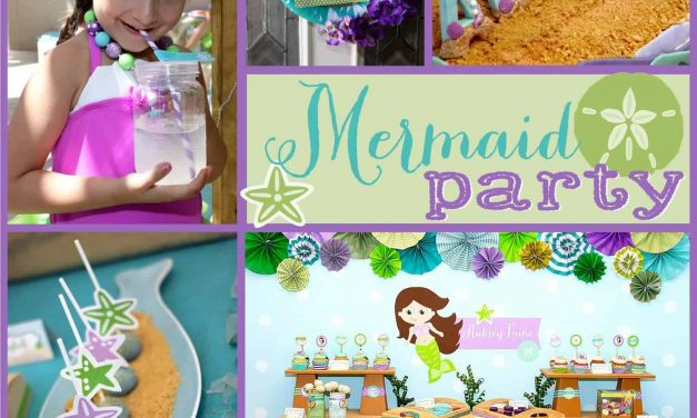 Gorgeous Purple + Teal Little Mermaid Party