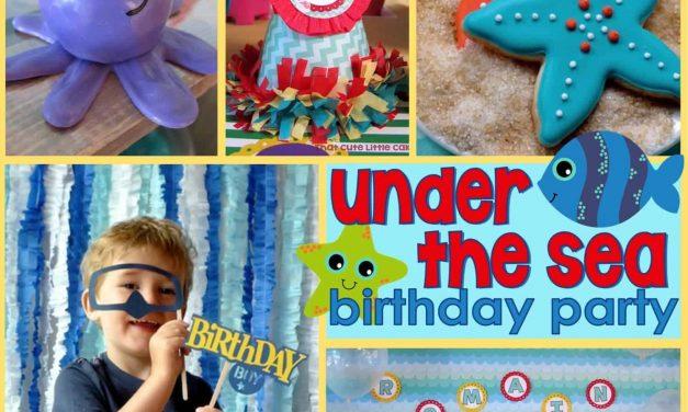 Under the Sea Birthday Party: Romain's Ocean Birthday