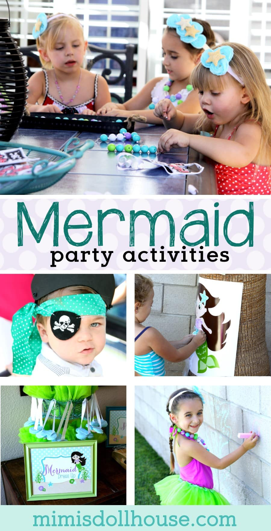 Mermaid Party: Under the Sea Mermaid Party Activities. Today I'm sharing the Mermaid Party Activities and Games from my recent Mermaid Party. Looking formermaid party ideas? Also check out thismermaid party, thisunder the sea birthday partyand theseunder the sea party ideas! #mermaid #partygames #party #parties #partyideas #ocean #underthesea