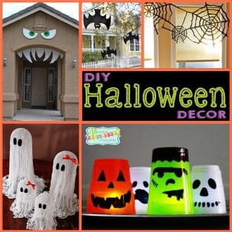 Halloween: DIY Halloween Decor.  Looking for some fun and easy DIY Halloween ideas to decorate your home or party?  Today I am sharing some Hauntingly good Halloween ideas!! #halloween #crafts #diy #parties #holiday