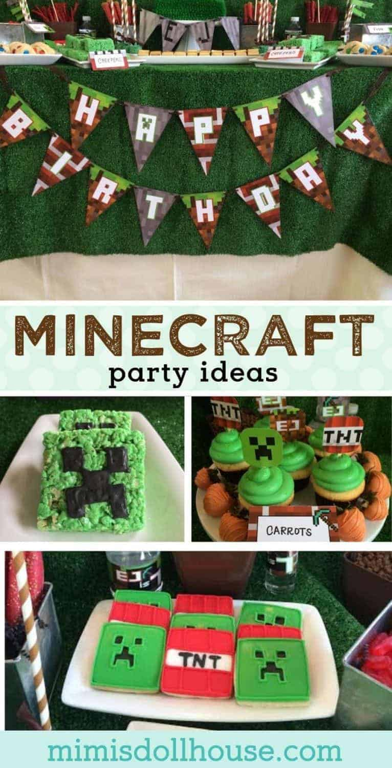 Let's build a party with these awesome Minecraft party ideas.  This post has a Minecraft party with great food ideas and decorations.  Check it out!