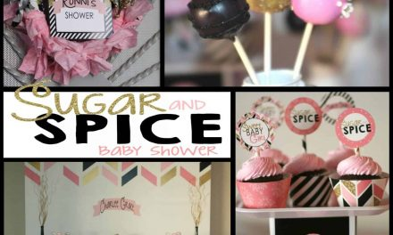 Modern Sugar and Spice Baby Shower