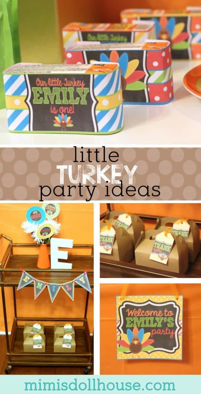Thanksgiving Party: Emily's Little Turkey Party. What better theme for a November birthday than a Turkey Party? If you want a fun Thanksgiving themed birthday party idea...this is your post!!! #turkey #birthday #kidbirthday #fallbirthday #fall #parties #autumn #thanksgiving