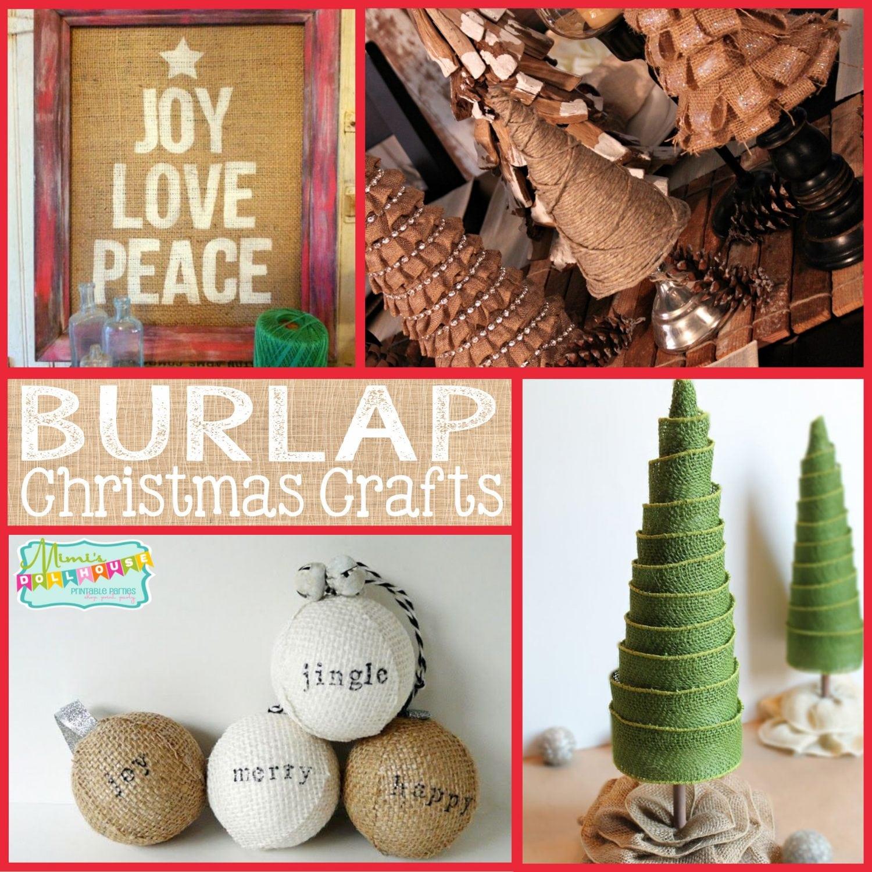 Christmas: Burlap Christmas Crafts