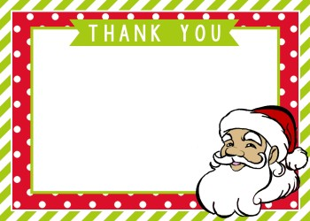 Santa Thank You Cards