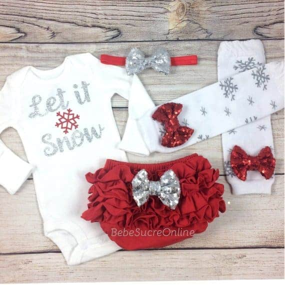 Romari for Kids Bow Rudolph Reindeer Face Outfit Plaid Pants Christmas Outfit