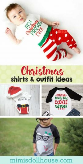 Christmas: Christmas Clothes Ideas for Kids.  Need some kids' Christmas clothes ideas? Nothing says Merry Christmas like an adorable little Christmas t-shirt. #christmas #holiday #Christmasphotos #kids #clothes #custom