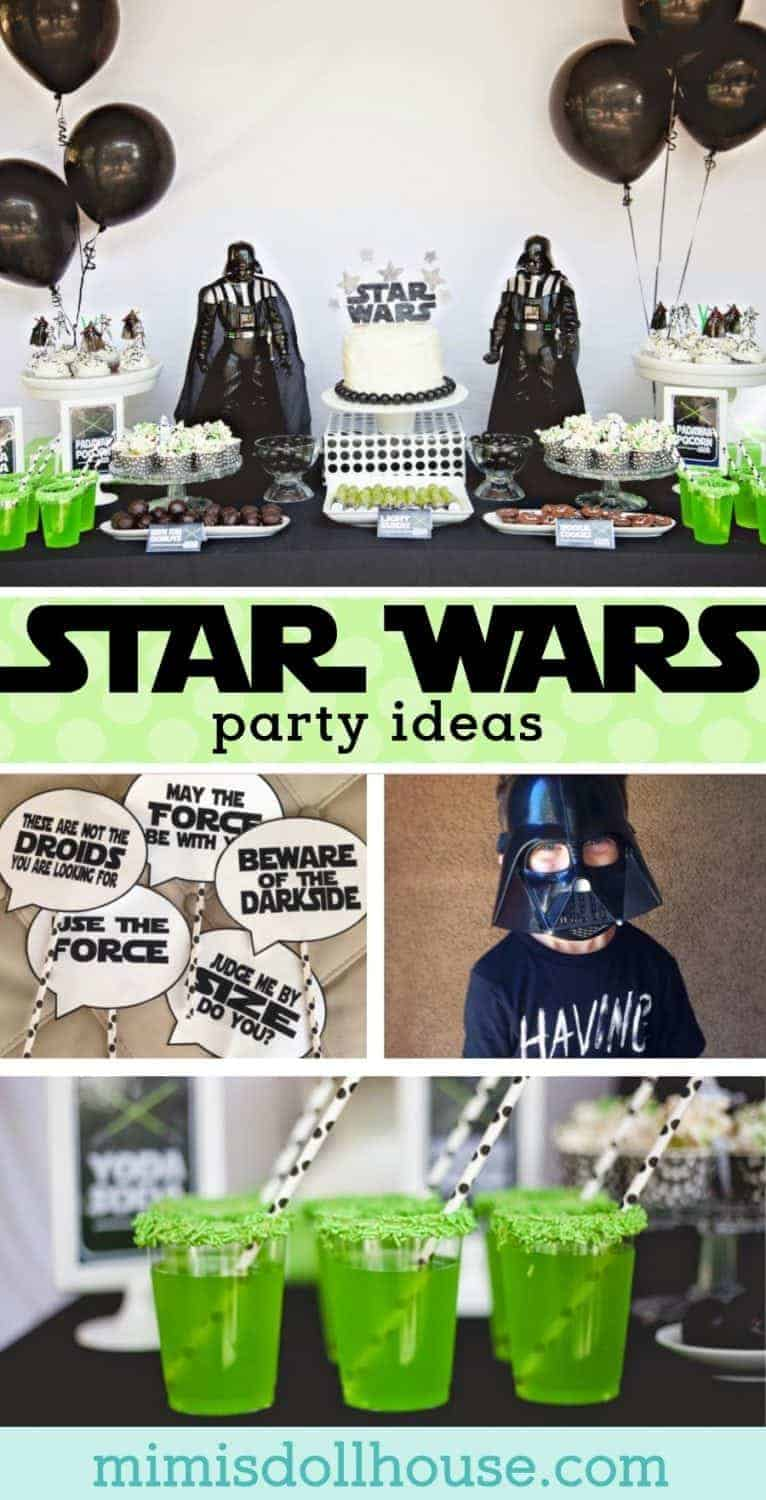 Star Wars Party: Jedi Jaxon's Star Wars 4th Birthday Party.  This Star Wars party is out of this world.  Be sure to check out all of our Star Wars party ideas and inspiration.  #starwars #party #jedi #boy #partyideas #parties #birthday