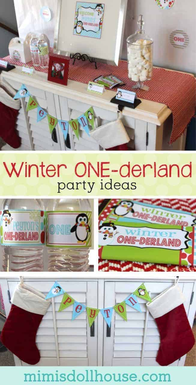 Winter One-derland Party: Winter First Birthday Party. This fun and festive winter winter first birthday party theme is perfect for a winter baby! Welcome to the winter wonderland!!  #winter #firstbirthday #parties #partyideas #christmas #holiday #birthday #diy