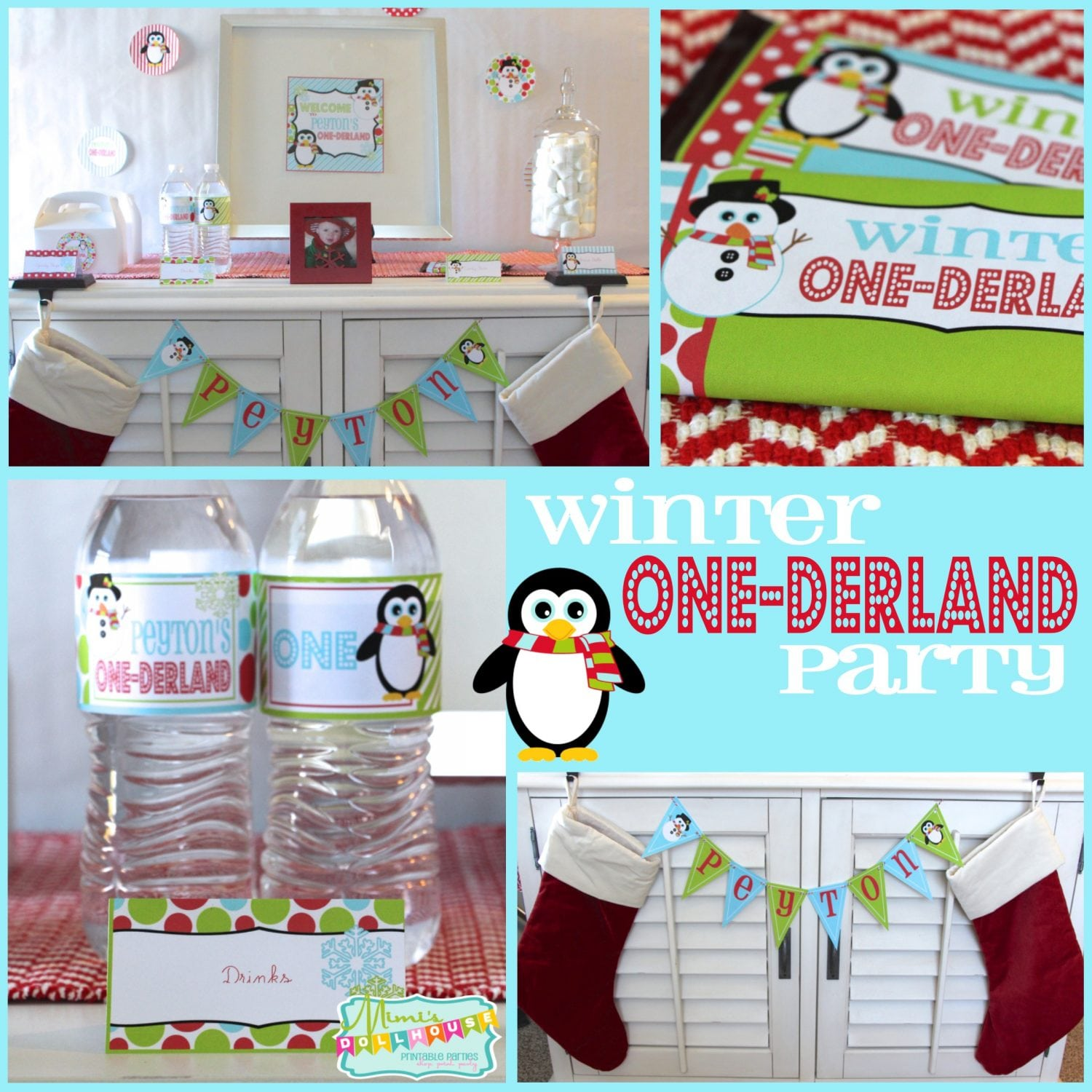 Winter One-derland Party: Penguins and Snowmen, Oh My!