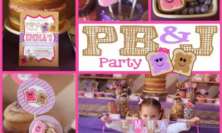 Peanut Butter & Jelly Party + PB&J Cake