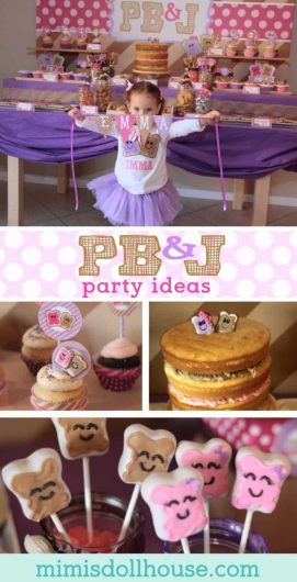 It's Peanut Butter Jelly time!! Looking fir a fun and creative party for a little pb&j lover? How about a pb&j birthday party. #birthdayparty #partiesforgirls