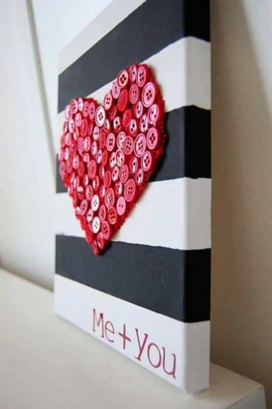 Valentine's Day: Cute Valentine Crafts.  Looking for some fun crafty Valentine ideas...I'm sharing some gorgeous and easy to DIY Valentine crafts today.  Be sure to check out all of our Valentine's Day ideas and inspiration.