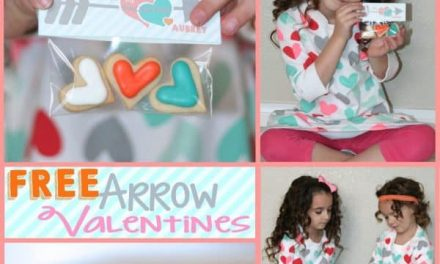 Valentine's Day: FREE Printable Arrow Valentines