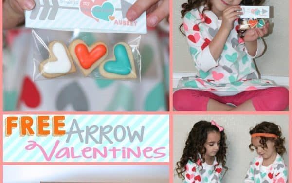 Arrow Themed FREE Printable Valentines for Kids