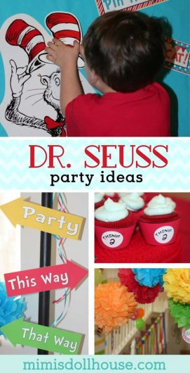 Looking for a fun cat in the hat or dr. seuss themed party. This birthday party is full of fun inspiration for a dr. seuss party! #drseuss #birthdayparty