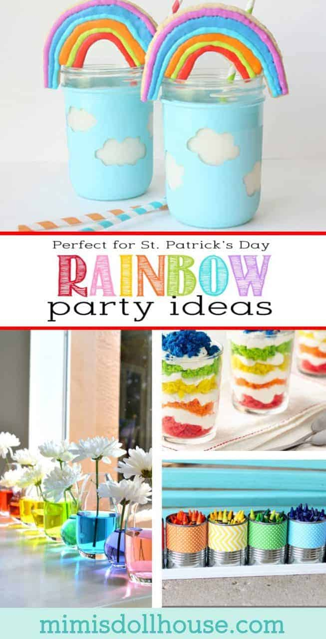 St. Patrick's Day: Rainbow Party Ideas. Looking for the pot of gold or just want to throw a St. Patrick's Day party that is not all green? Today I'm sharing some awesome Rainbow Party Ideas just in time for St. Patrick's Day. Be sure to check out all of our St. Patrick's Day ideas and inspiration. #stpatricksday #rainbow #holiday #baking #diy #kids #party #partyideas #parties #crafts