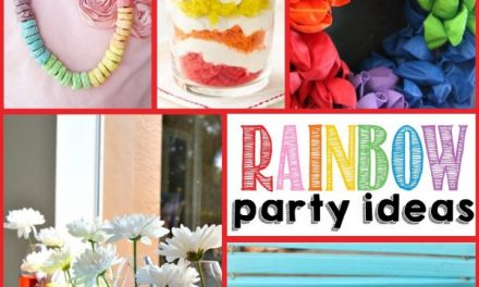 Colorful Rainbow Decorations + Party Ideas