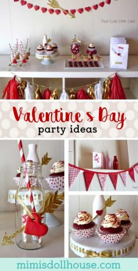 Valentine's Day Party: Cupid's Arrow Party.  This adorable Valentine's Day party is perfect for planning and throwing on a budget or with your kids.  Check out all the super cute Valentine's Day details. #valentines #valentinesday #holiday #parties #partyideas #kidparties