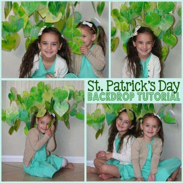 St. Patrick's Day: DIY Crayon Backdrop Tutorial