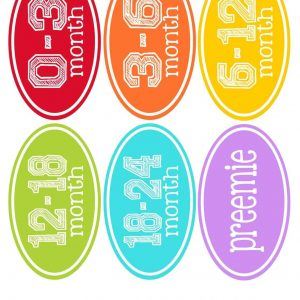 Clothes stickers-rainbow1