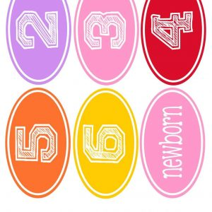 Clothes stickers-rainbow2