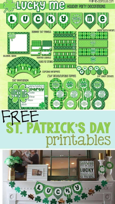 St. Patrick's Day: FREE St. Paddy's Day Printables. Did you know we have FREE St. Paddy's Day Printables?  Decorate your home for St. Patrick's Day or throw a St. Patrick's Day Party!! #printables #free #freeprintables #holiday #stpatricksday #lucky #kids #crafts #diy