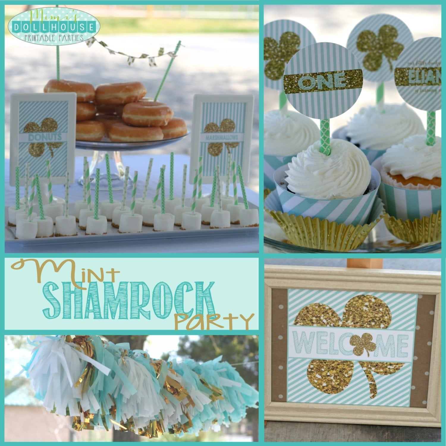St. Patrick's Day: Eliana's Mint Shamrock Party