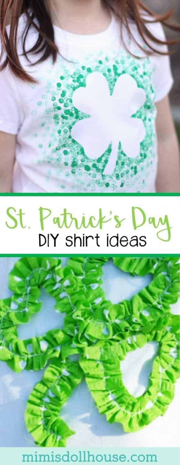 St. Patrick's Day: DIY Shirts. Feeling lucky? I'm sharing some super cute DIY St. Patrick's Day shirt ideas today.  Be sure to check out all of our St. Patrick's Day Ideas and Inspiration.