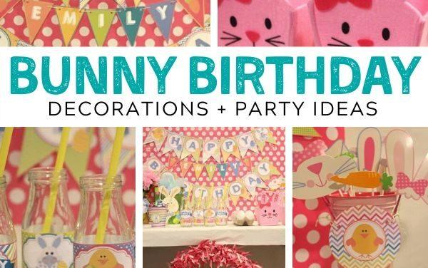 Bright + Bouncy Bunny Birthday Party