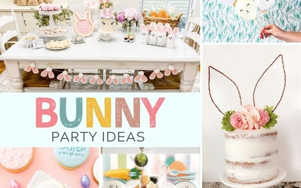 20 Bright + Bouncy Bunny Birthday Party Ideas