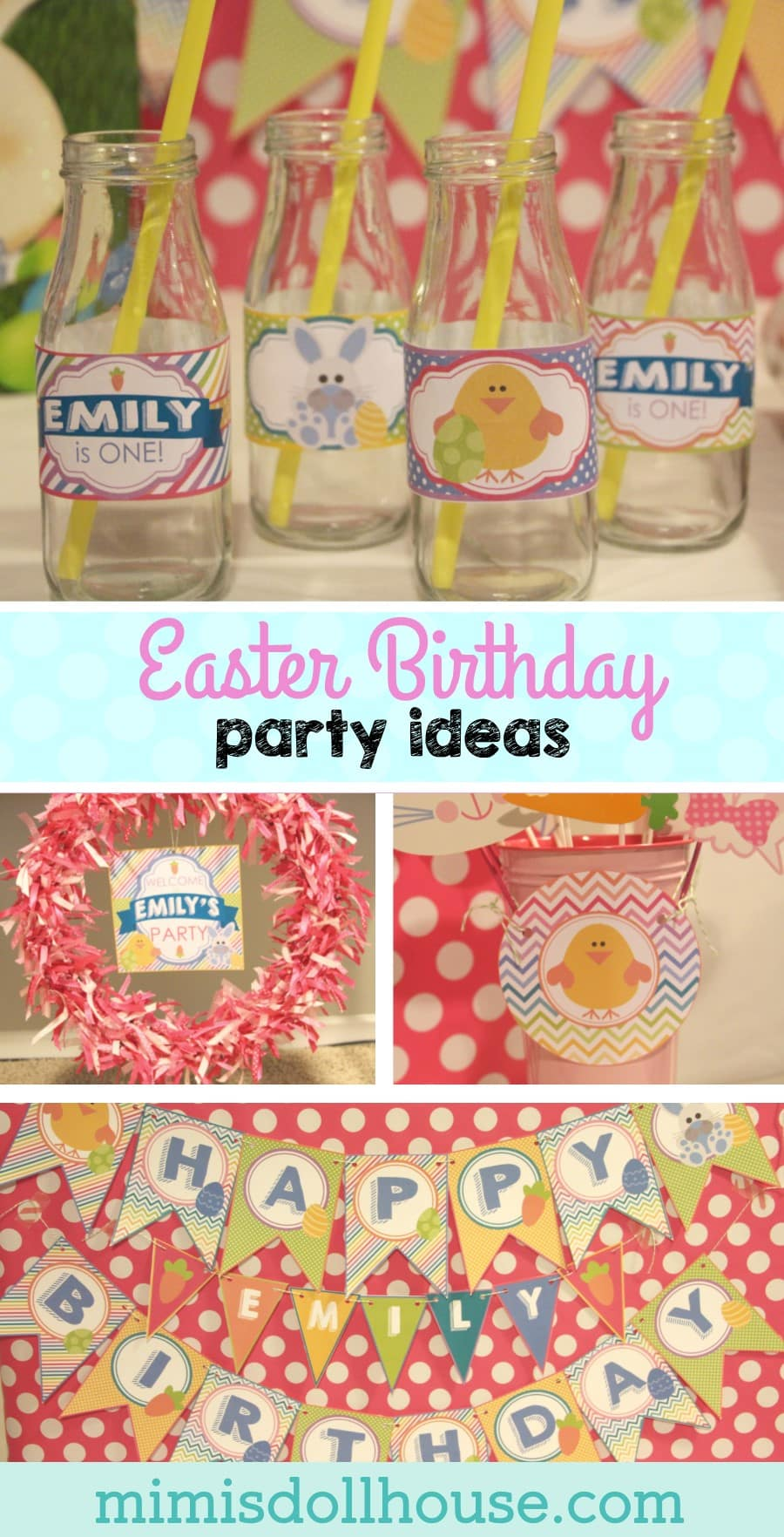 Easter: Hoppy Birthday Party, Bunny Style. Here is a sweet Easter Birthday Party just right for a spring birthday.#easter #birthday #party #parties #easterbirthday #bunny #chick #hoppybirthday #kids