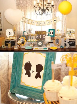 gender-reveal-dessert-table