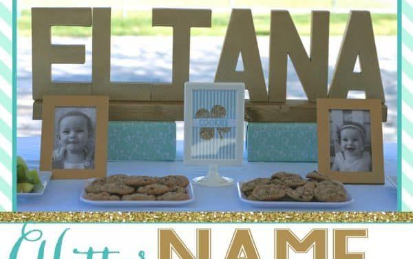 Glitter Name Centerpiece Tutorial + Shamrock Party Ideas