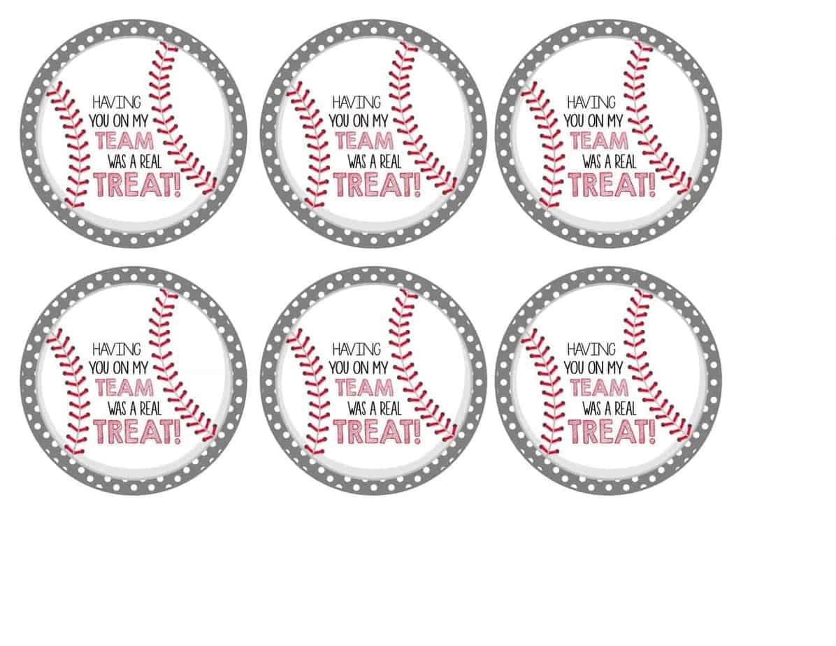 photo relating to Baseball Printable identify Totally free Baseball Tags + Rice Krispies Treats® Mimis Dollhouse