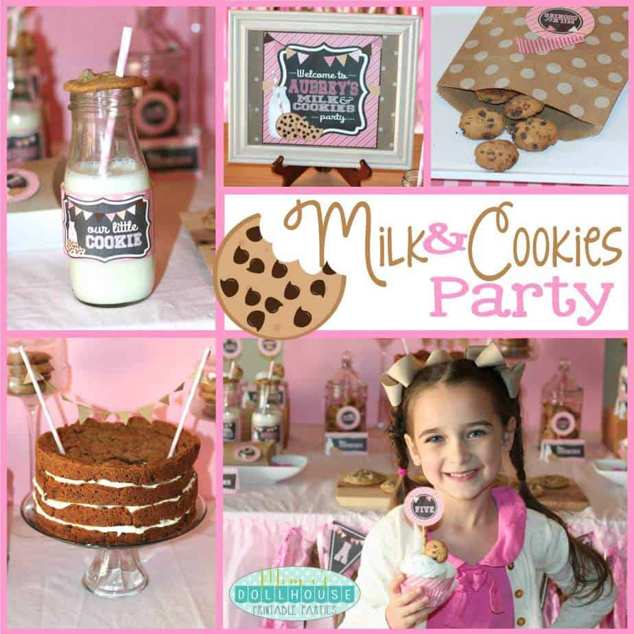 Milk and Cookies Party: Aubrey's Cookie Shop