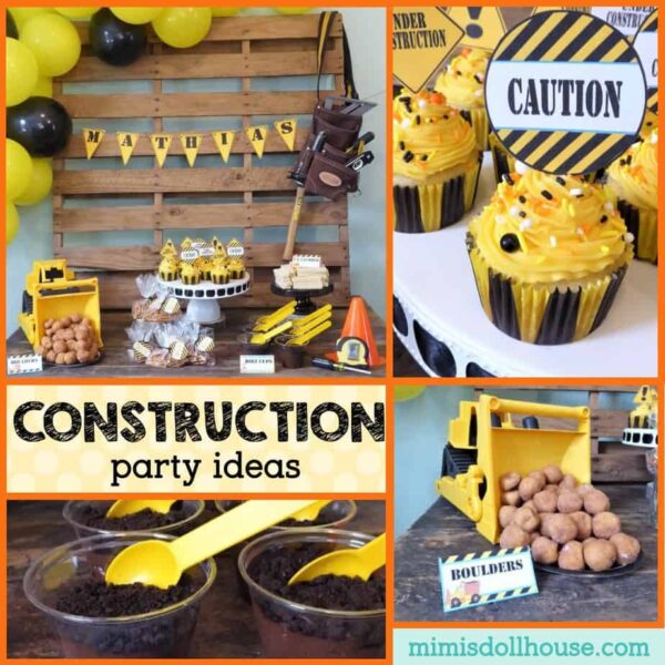Construction Birthday Party Food Ideas: Easy DIY Construction Theme Party Ideas