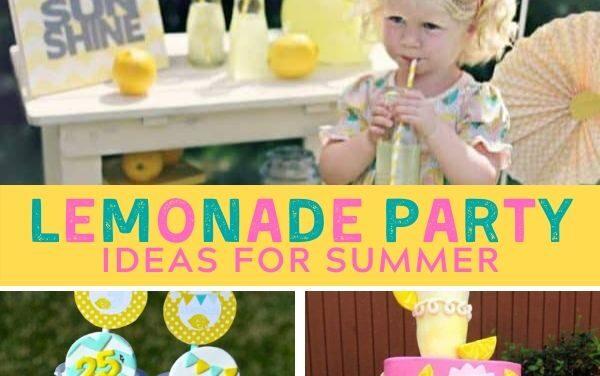Summery + Sweet Lemonade Party Ideas