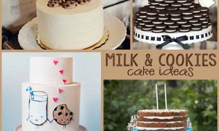 Milk and Cookies Cakes + Party Ideas