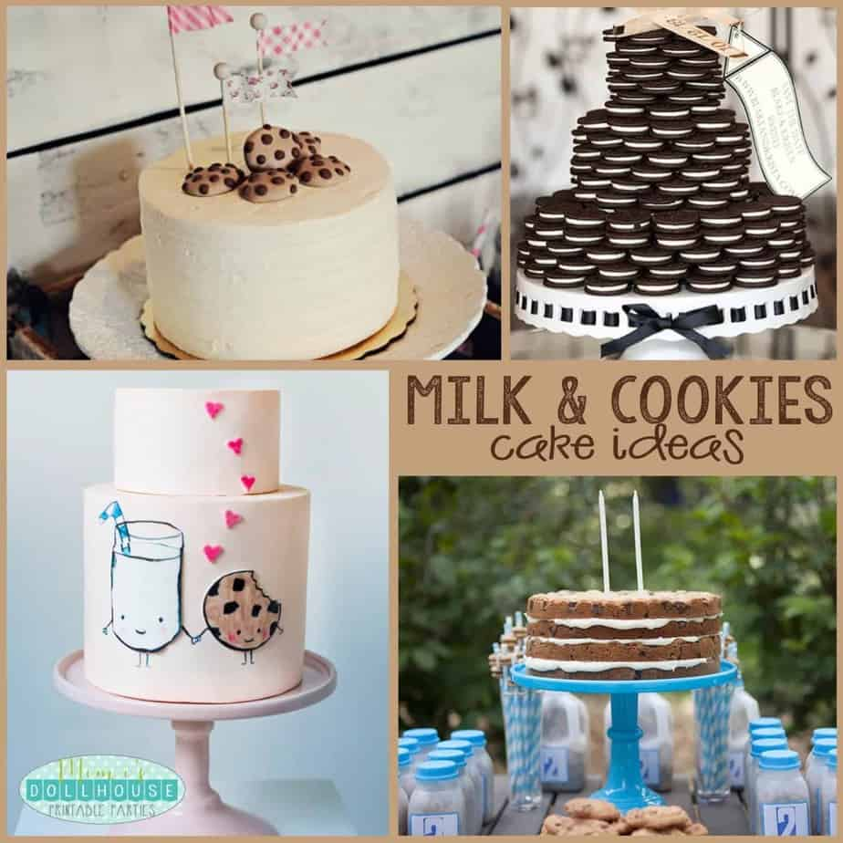 Milk and Cookies Party: Creative Cakes for a Cookie Party