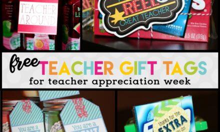 Teacher Appreciation Week Ideas + Free Printables