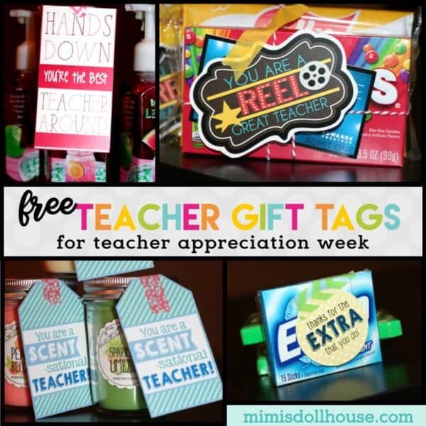 photograph regarding Free Printable Teacher Gift Tags referred to as Instructor Appreciation 7 days Tips + No cost Printables Mimis