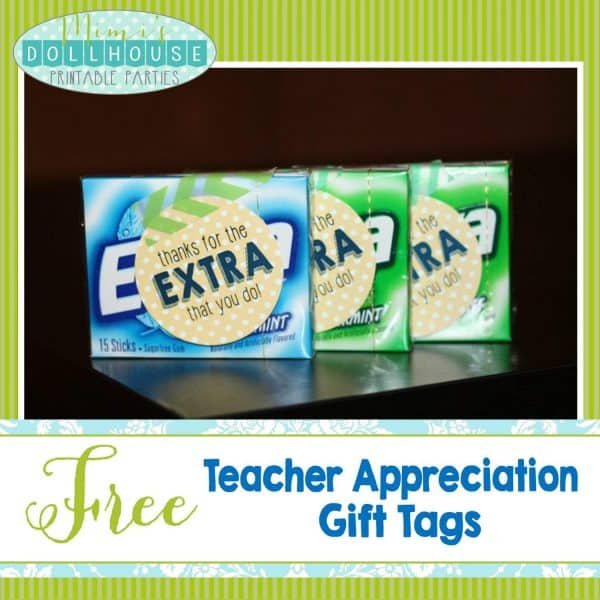 photo about Extra Gum Teacher Appreciation Printable referred to as Trainer Appreciation 7 days Programs + Free of charge Printables Mimis