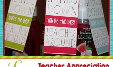 Teacher Appreciation Week: FREE Teacher Appreciation Gift Tags.