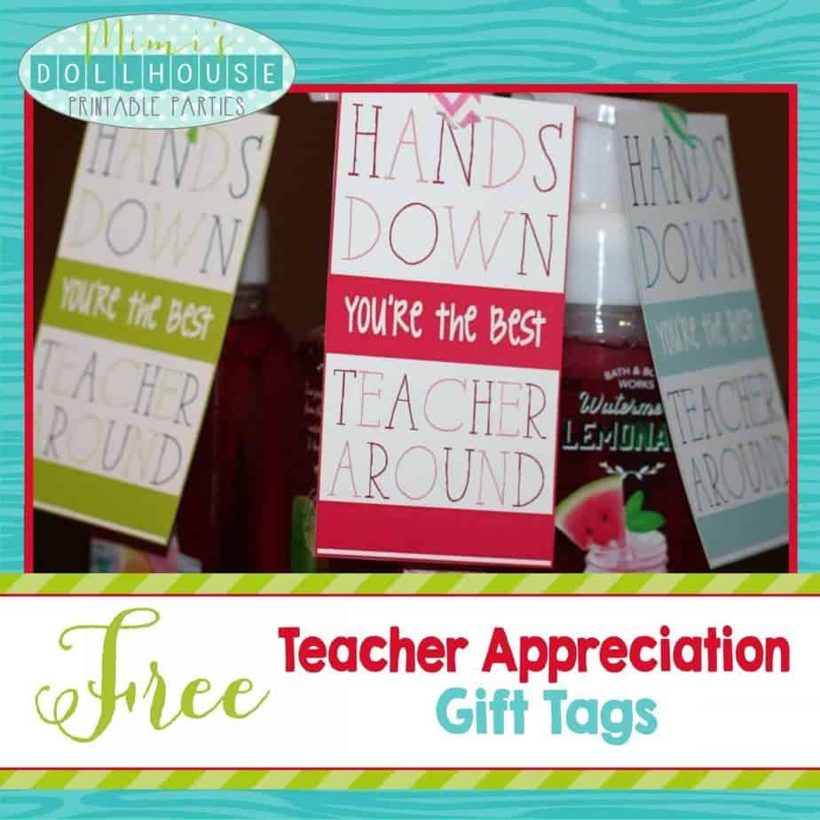 Teacher Appreciation Week: FREE Teacher Appreciation Gift Tags.