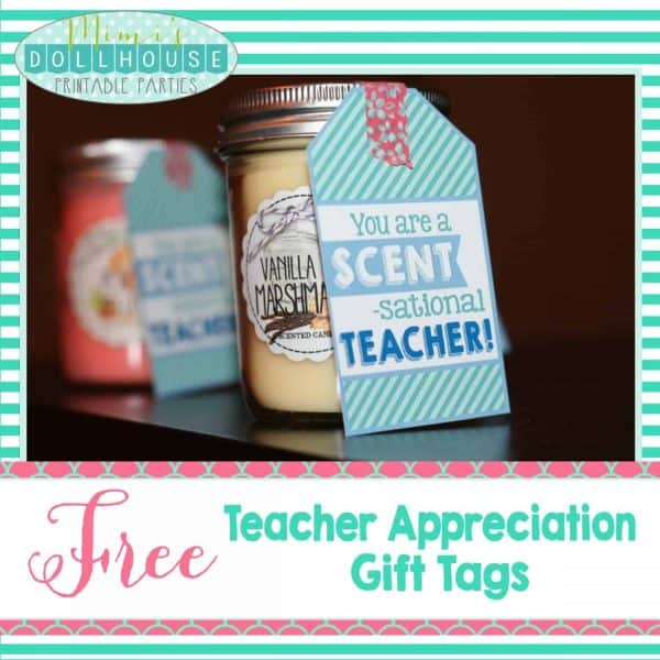 photo relating to Free Printable Teacher Gift Tags identify Instructor Appreciation 7 days Designs + Totally free Printables Mimis