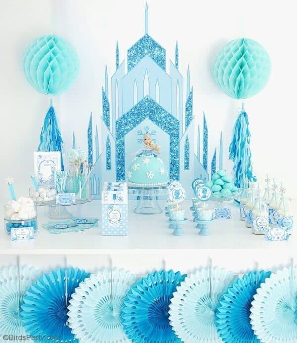 Astounding 30 Amazing Frozen Party Ideas Mimis Dollhouse Birthday Cards Printable Benkemecafe Filternl